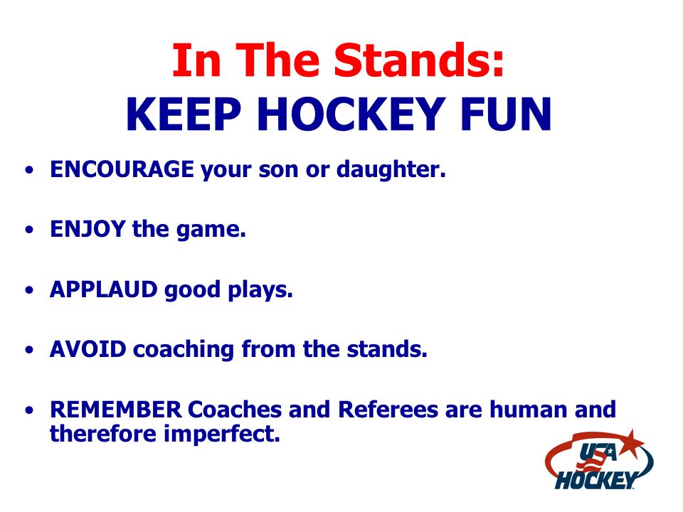 In The Stands: KEEP HOCKEY FUN