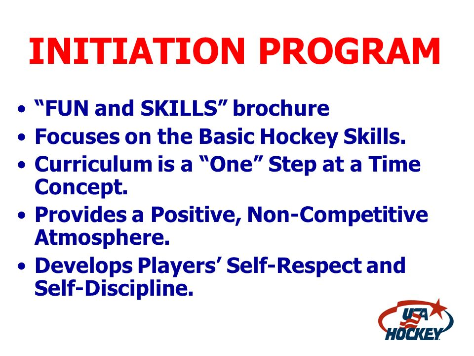 INITIATION PROGRAM FUN and SKILLS brochure