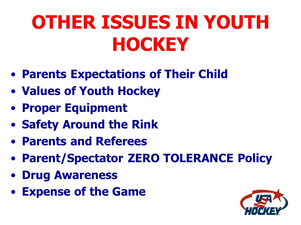 OTHER ISSUES IN YOUTH HOCKEY