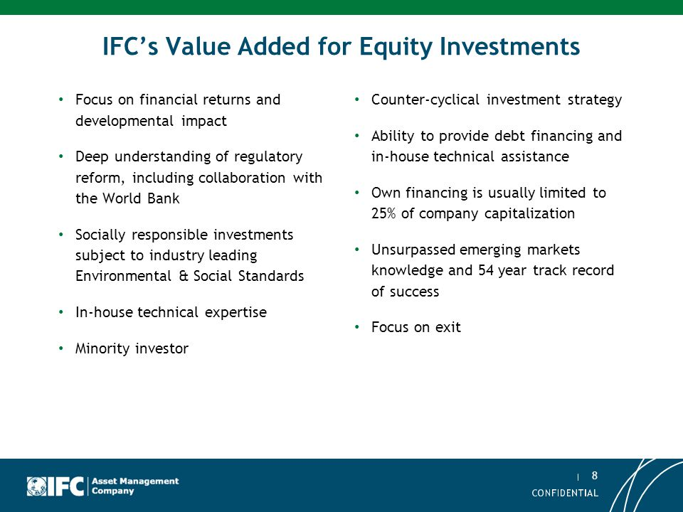 IFC's Value Added for Equity Investments