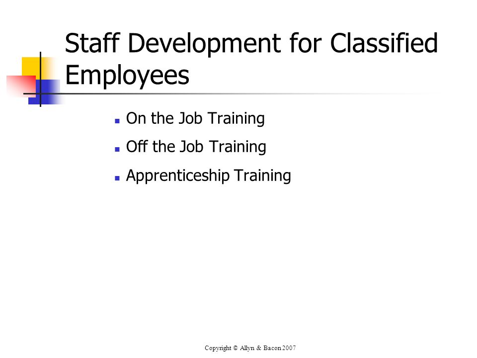Staff Development for Classified Employees