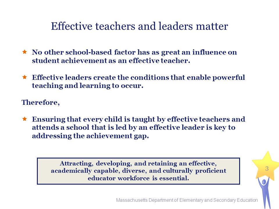 Effective teachers and leaders matter