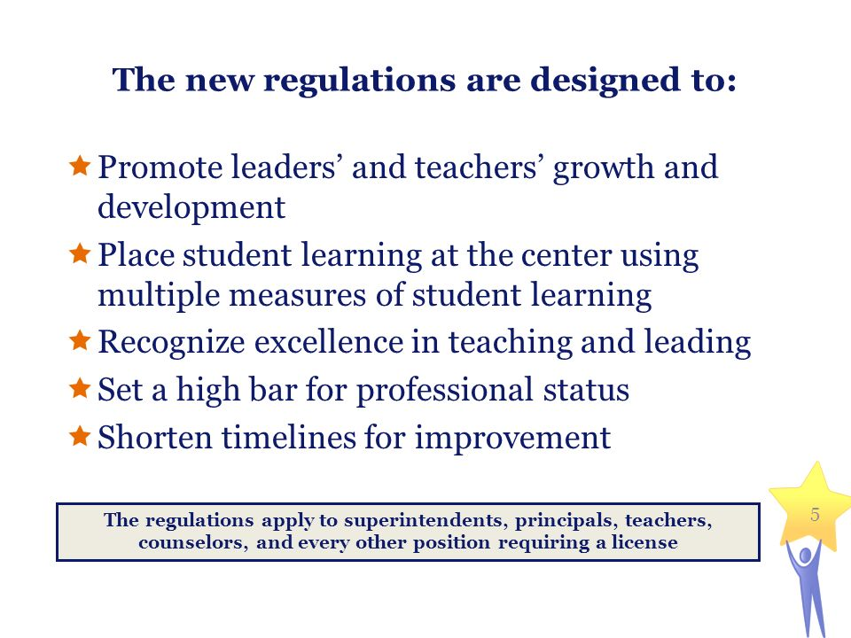 The new regulations are designed to: