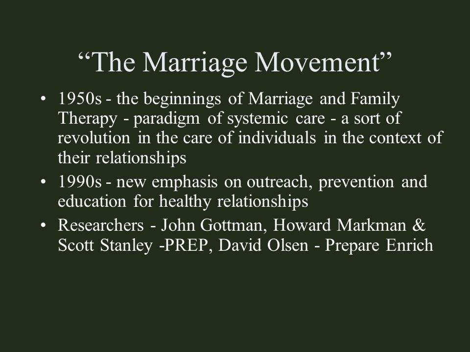 The Marriage Movement