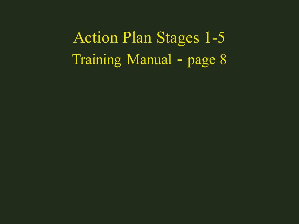 Action Plan Stages 1-5 Training Manual - page 8
