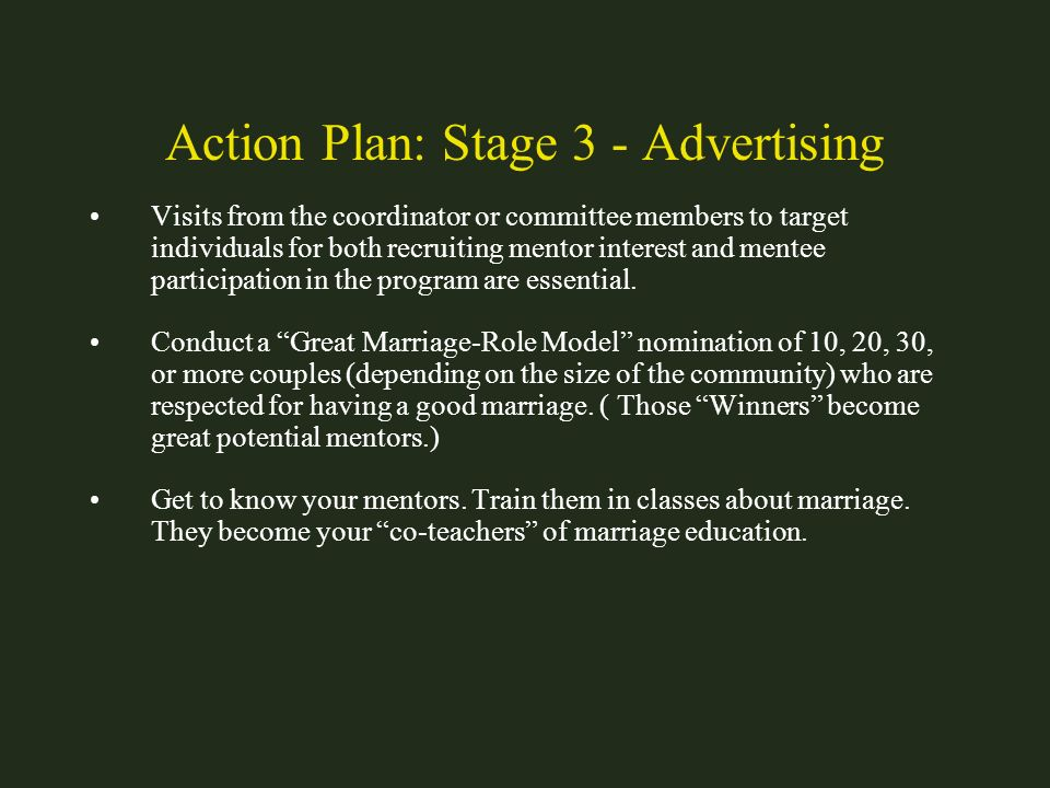 Action Plan: Stage 3 - Advertising