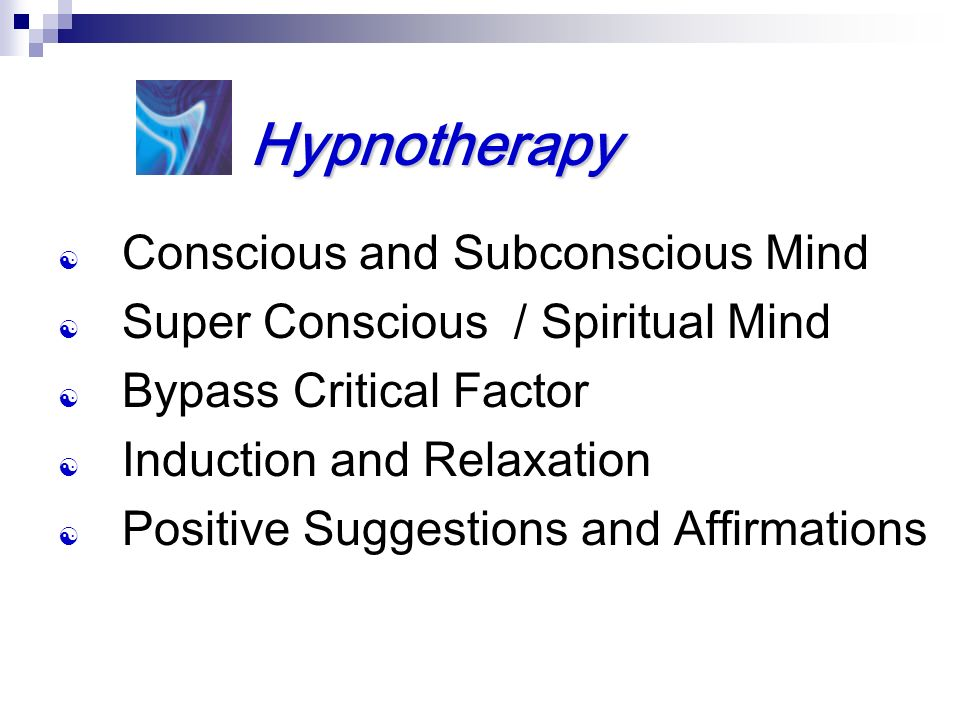 Hypnotherapy Conscious and Subconscious Mind