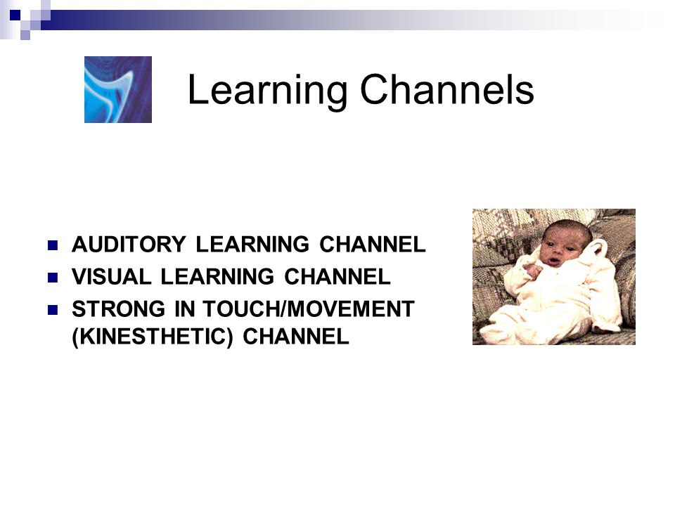 Learning Channels AUDITORY LEARNING CHANNEL VISUAL LEARNING CHANNEL