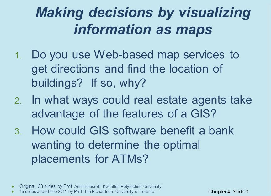 Making decisions by visualizing information as maps