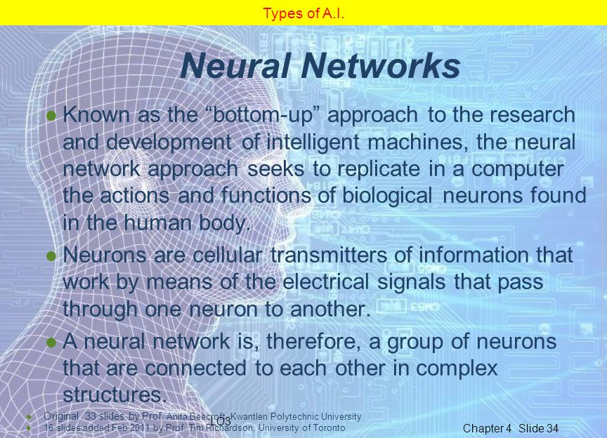 Types of A.I. Neural Networks.