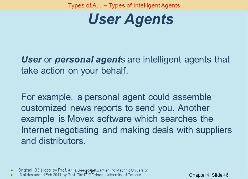 Types of A.I. – Types of Intelligent Agents