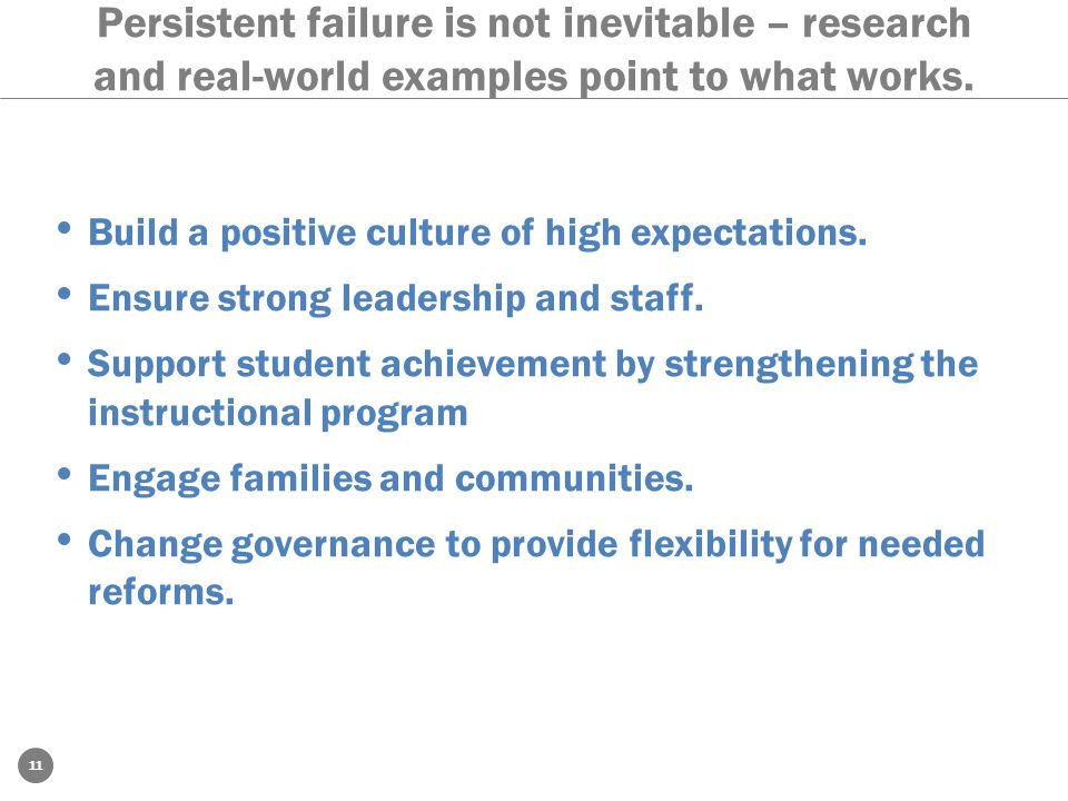 Persistent failure is not inevitable – research and real-world examples point to what works.