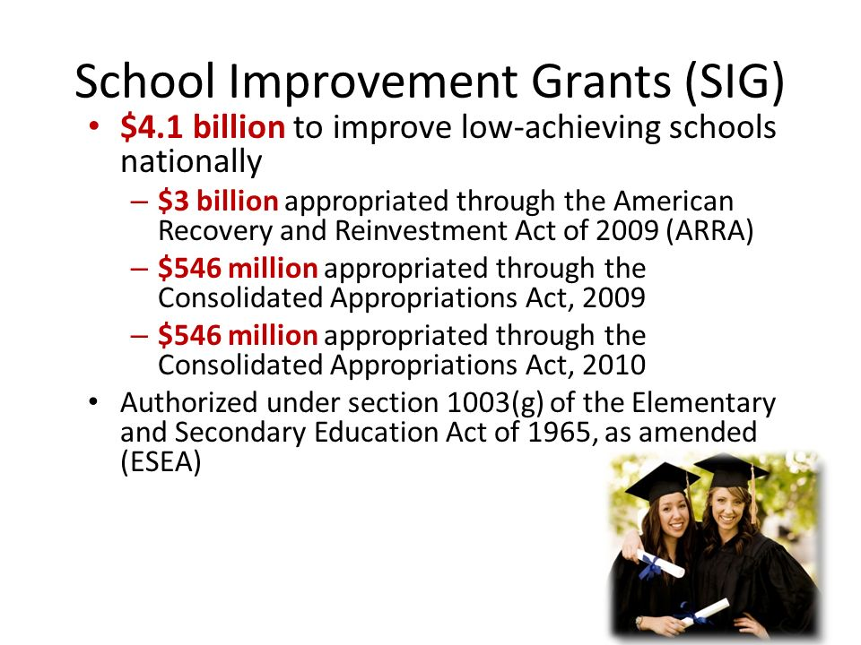 School Improvement Grants (SIG)