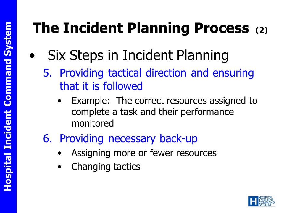 The Incident Planning Process (2)