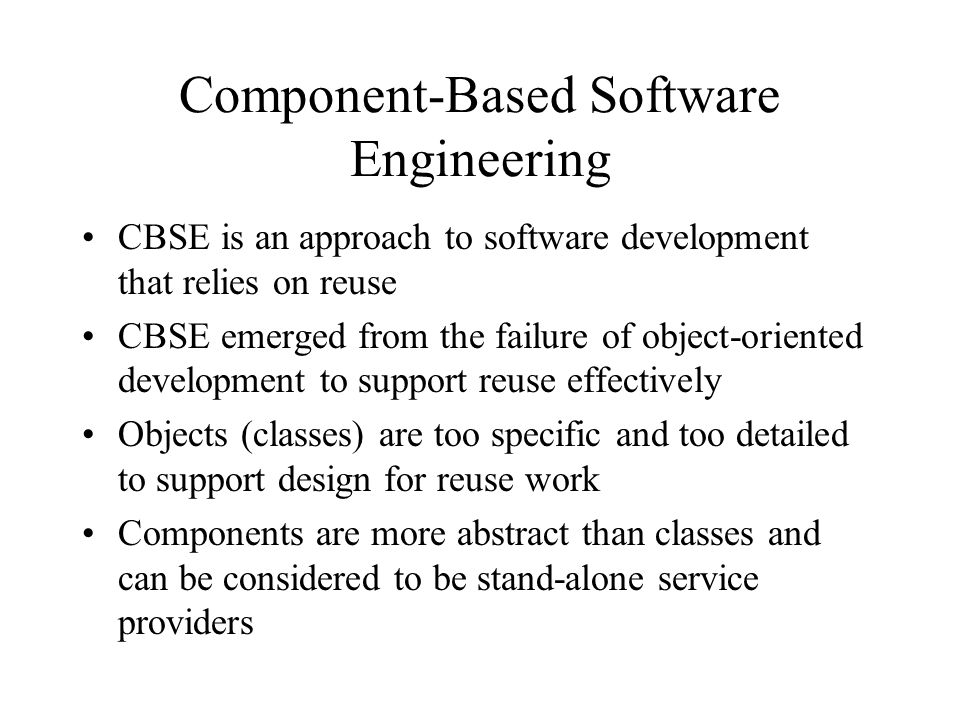 Software Reuse And Component Based Software Engineering Ppt Download