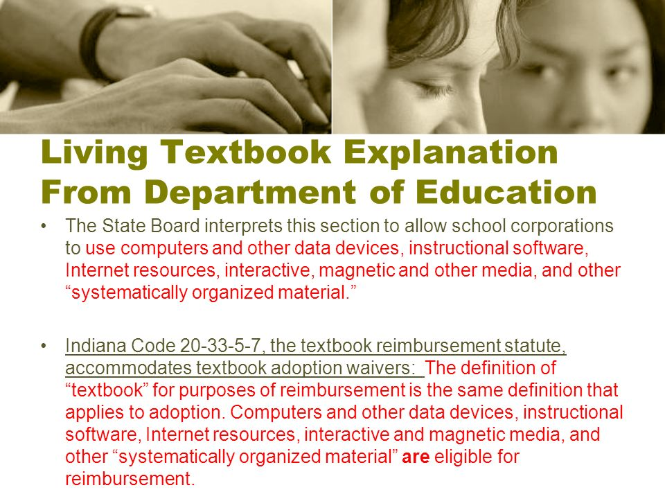 Living Textbook Explanation From Department of Education