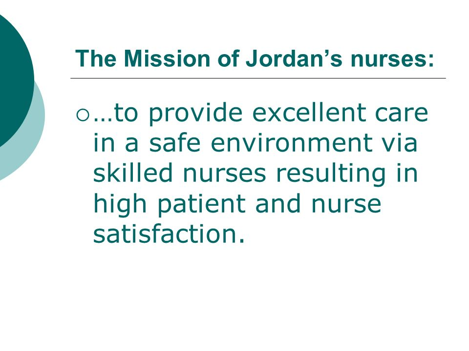 The Mission of Jordan's nurses:
