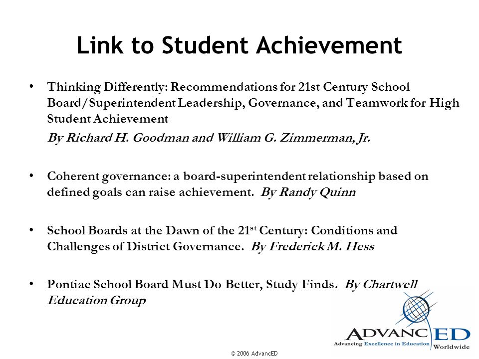 Link to Student Achievement