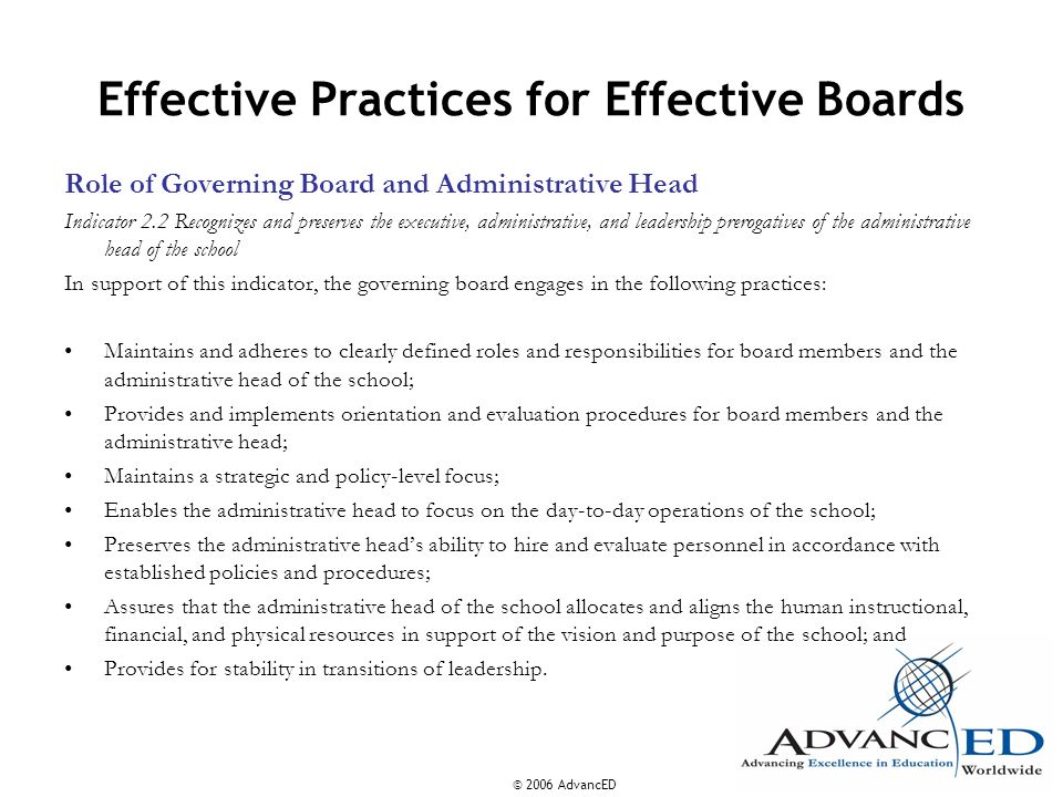 Effective Practices for Effective Boards