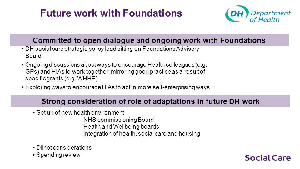 Future work with Foundations