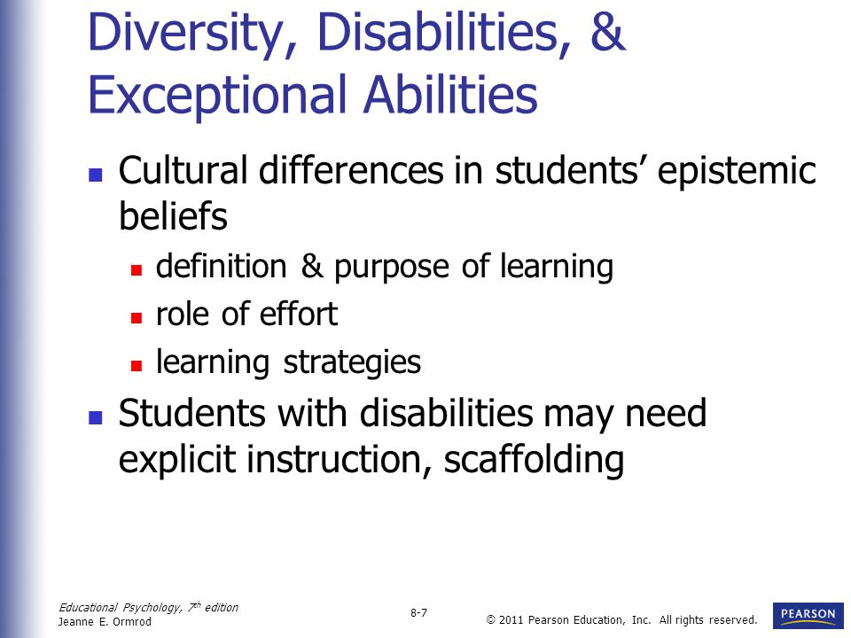 Diversity, Disabilities, & Exceptional Abilities