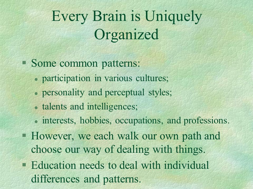 Every Brain is Uniquely Organized