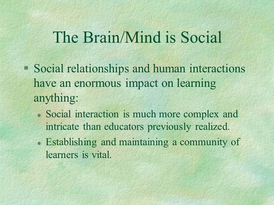 The Brain/Mind is Social