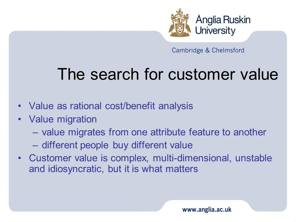 The search for customer value
