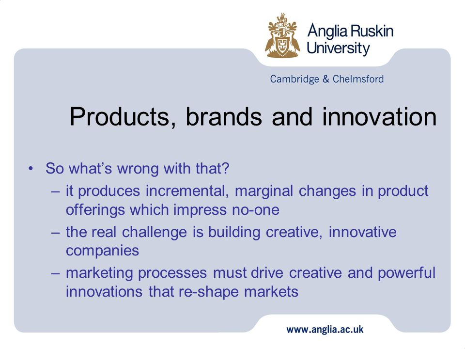 Products, brands and innovation