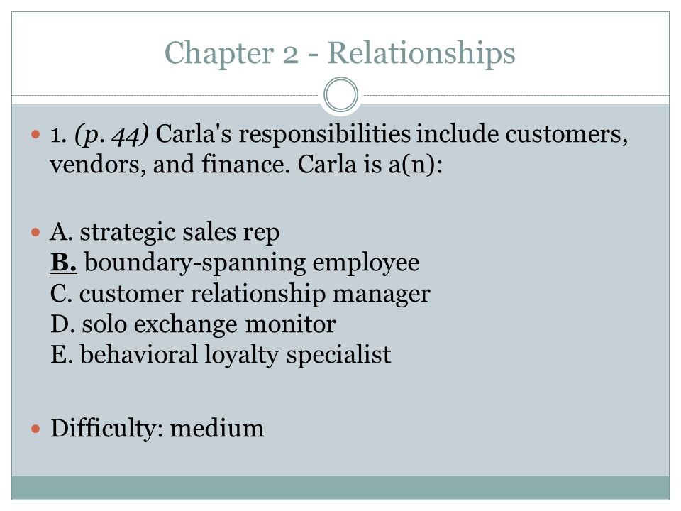 Chapter 2 - Relationships