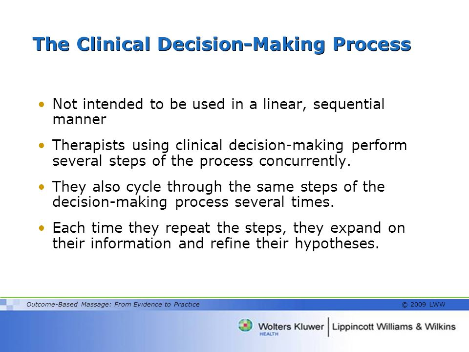 The Clinical Decision-Making Process