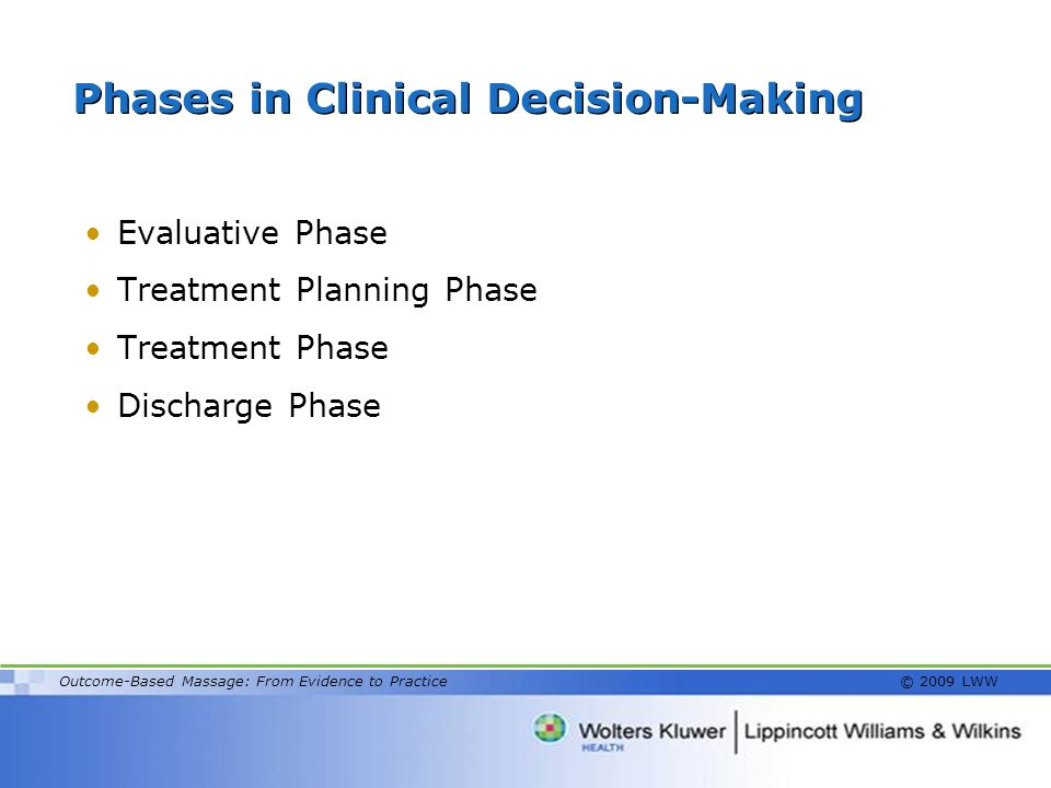 Phases in Clinical Decision-Making