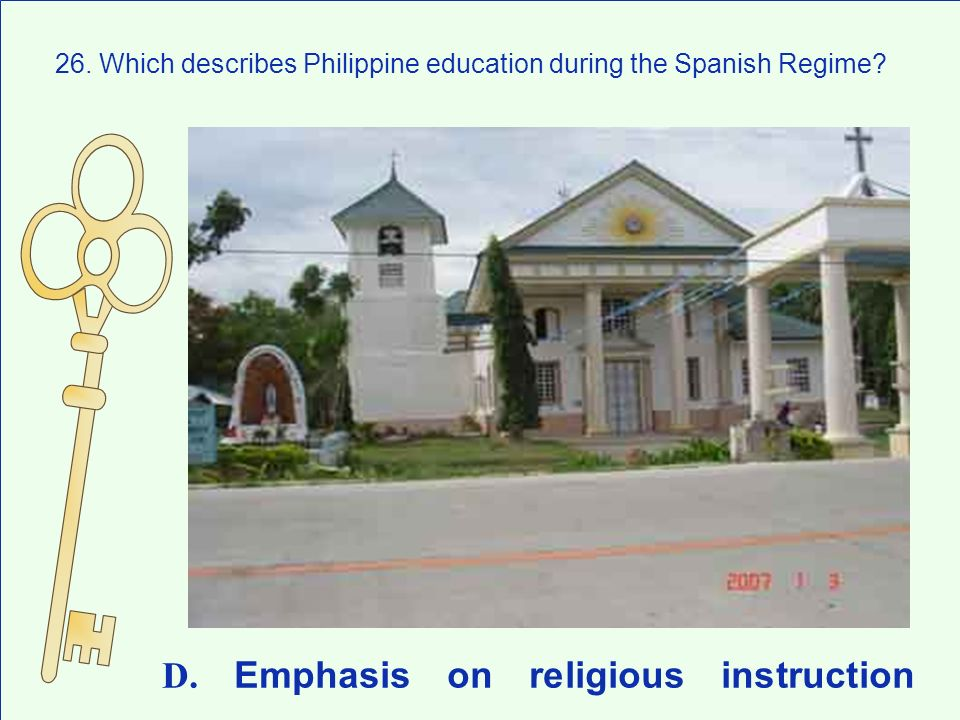 D. Emphasis on religious instruction