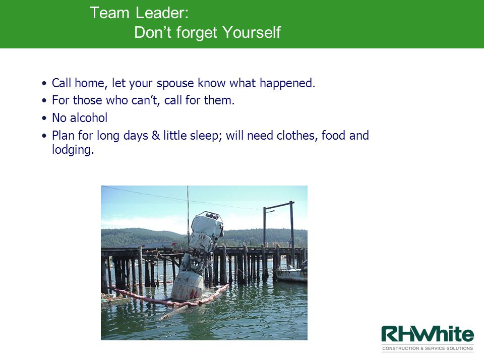 Team Leader: Don't forget Yourself