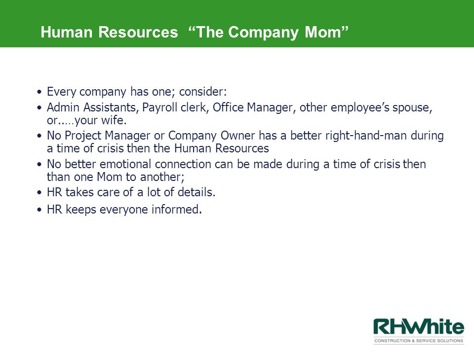 Human Resources The Company Mom