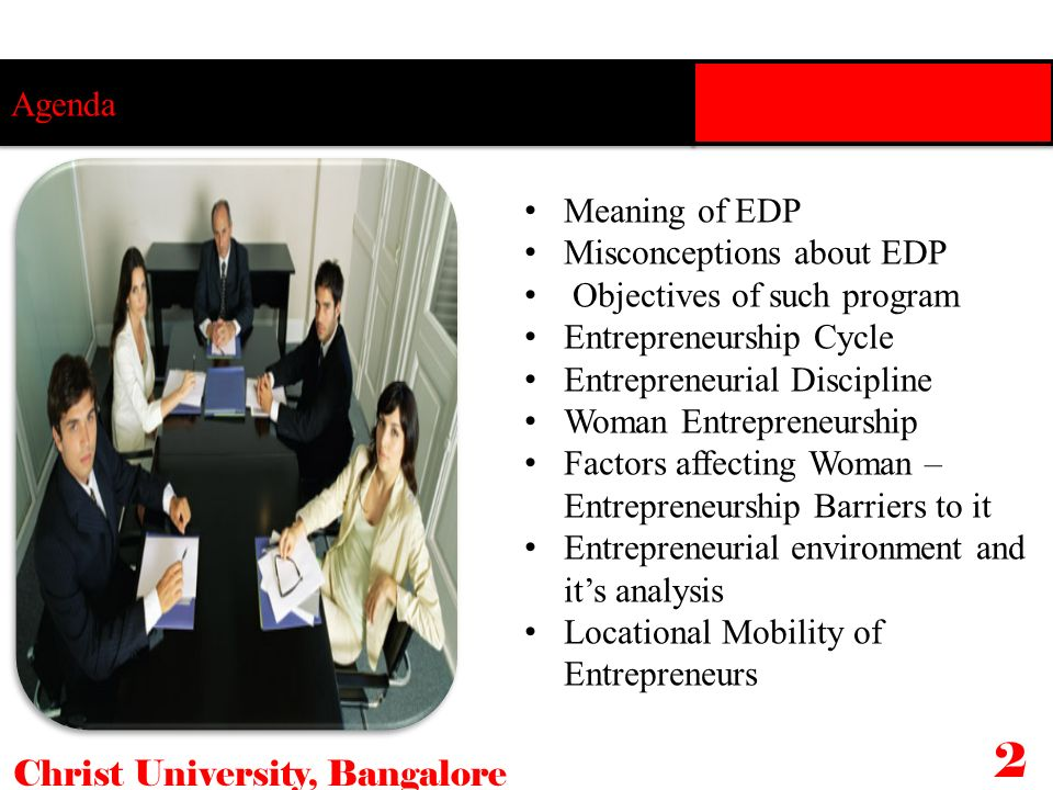 2 Agenda Meaning of EDP Misconceptions about EDP