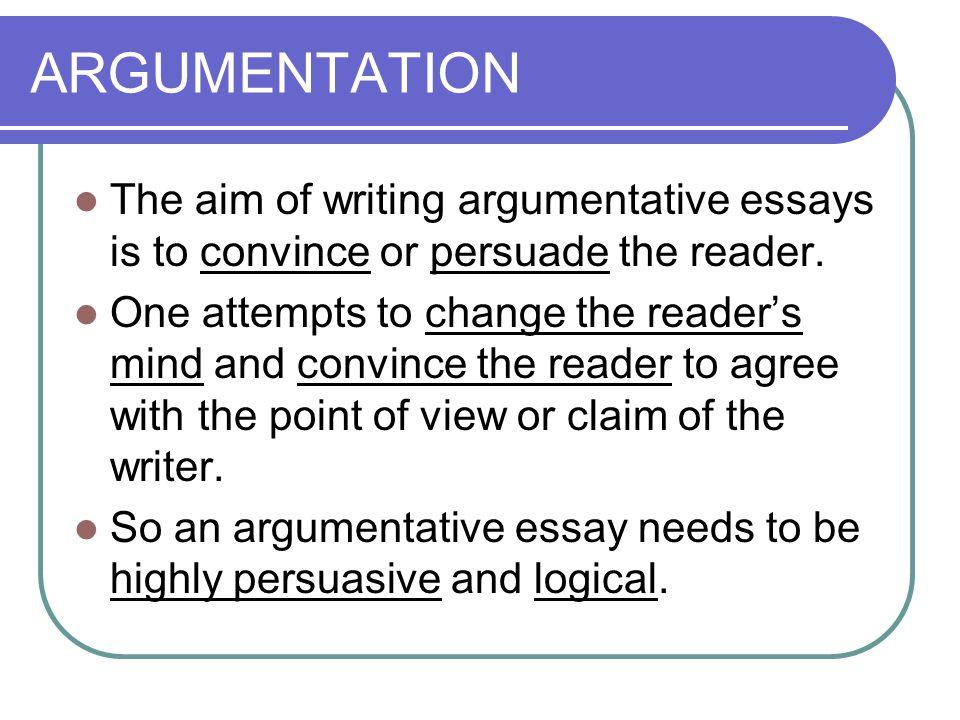 Argumentative Essay  Ppt Download  Argumentation
