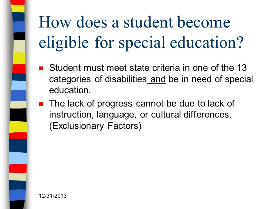 How does a student become eligible for special education