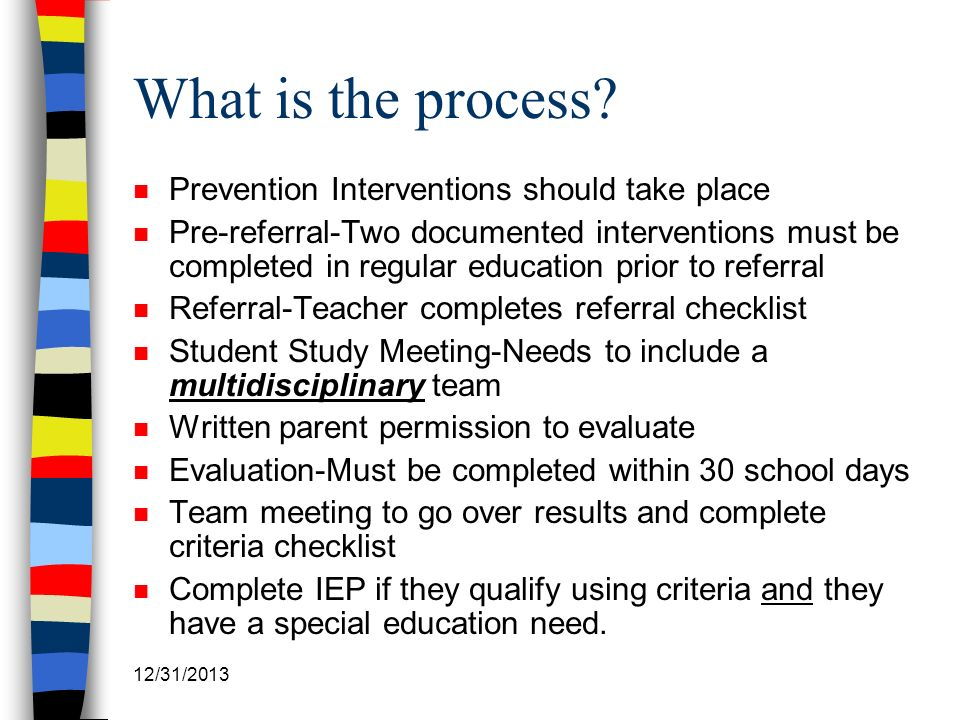 What is the process Prevention Interventions should take place