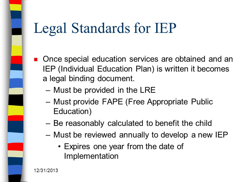Legal Standards for IEP