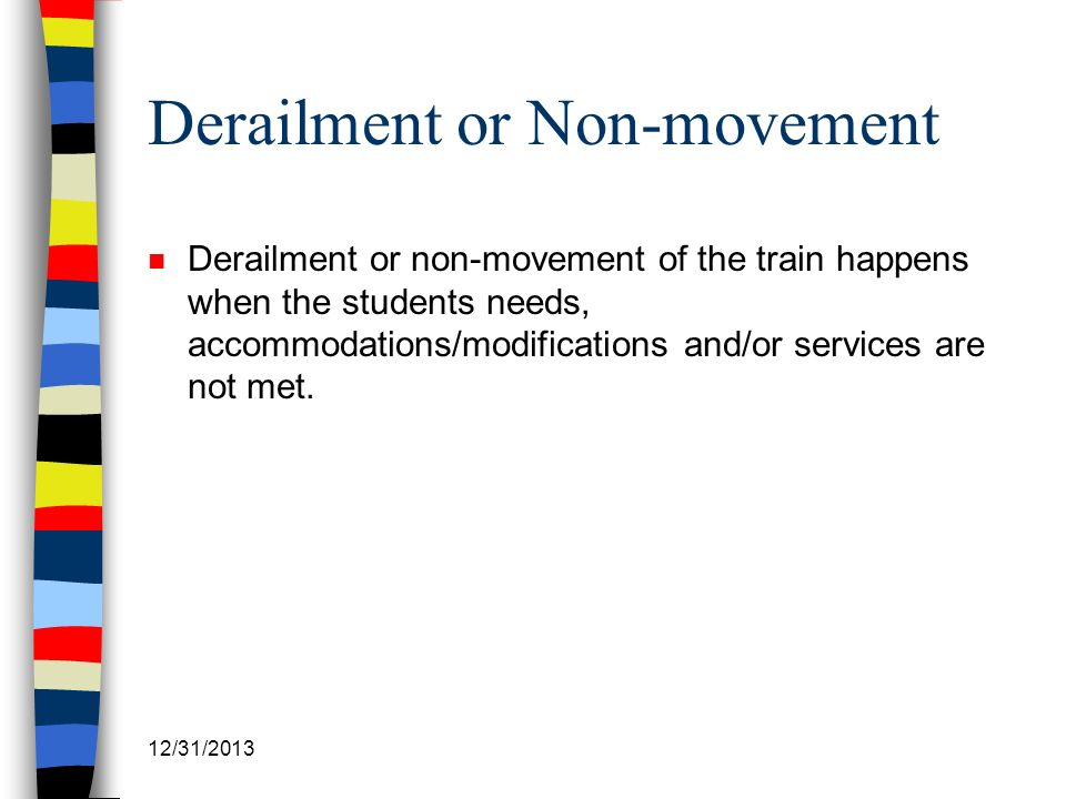 Derailment or Non-movement