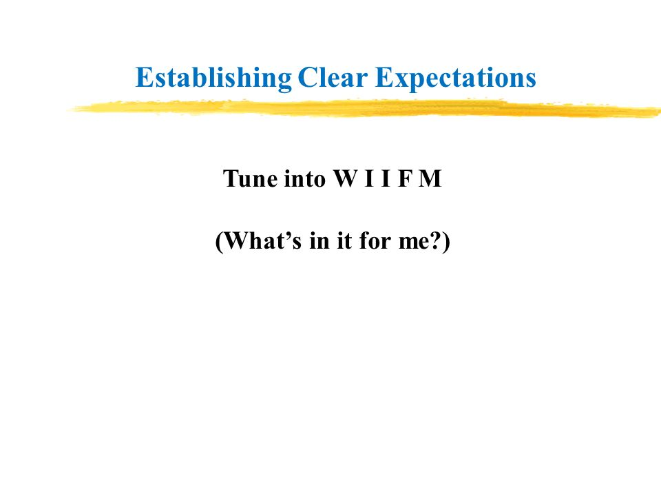 Establishing Clear Expectations