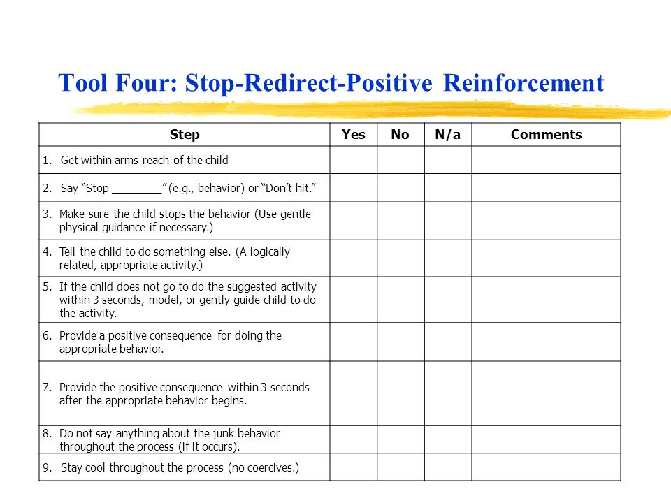 Tool Four: Stop-Redirect-Positive Reinforcement
