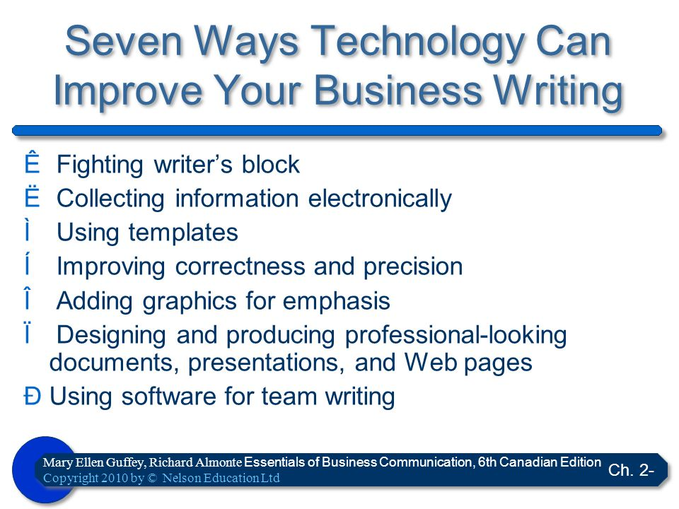 Seven Ways Technology Can Improve Your Business Writing