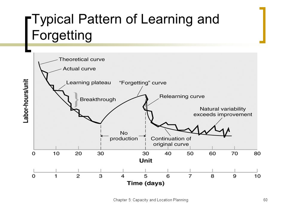 Typical Pattern of Learning and Forgetting