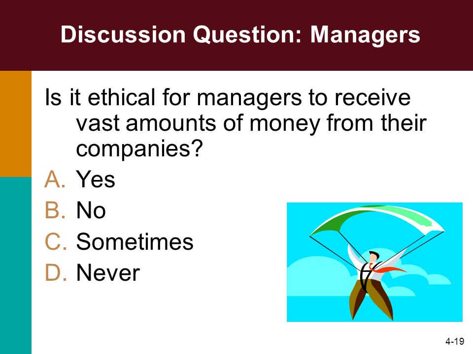 Discussion Question: Managers