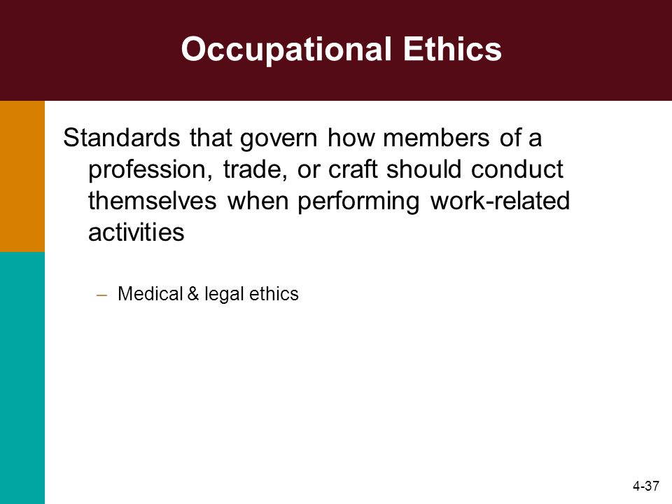 Occupational Ethics