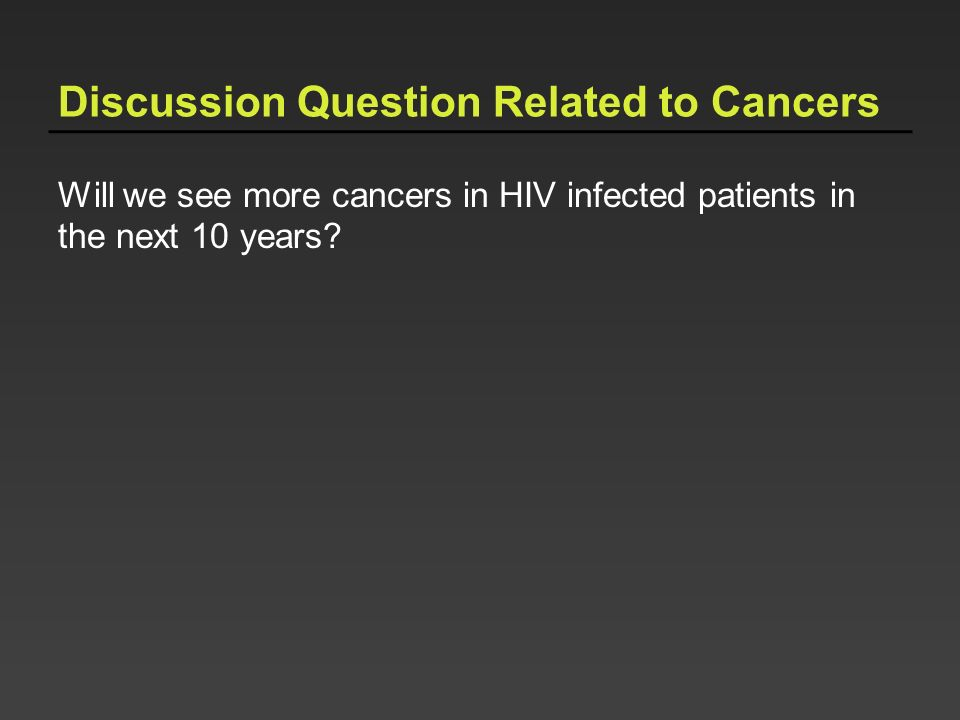 Discussion Question Related to Cancers