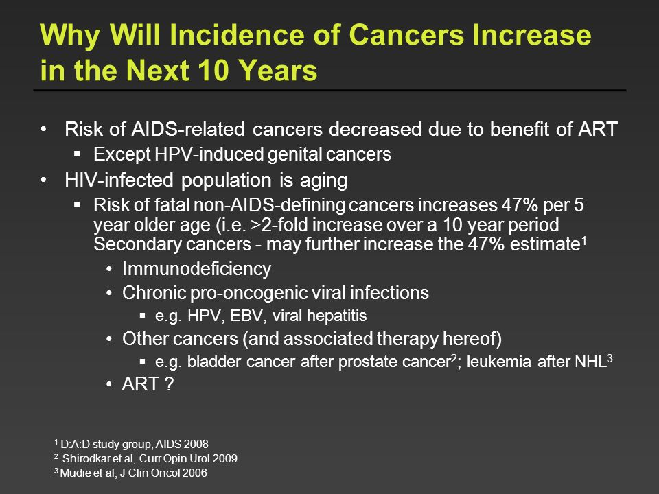 Why Will Incidence of Cancers Increase in the Next 10 Years