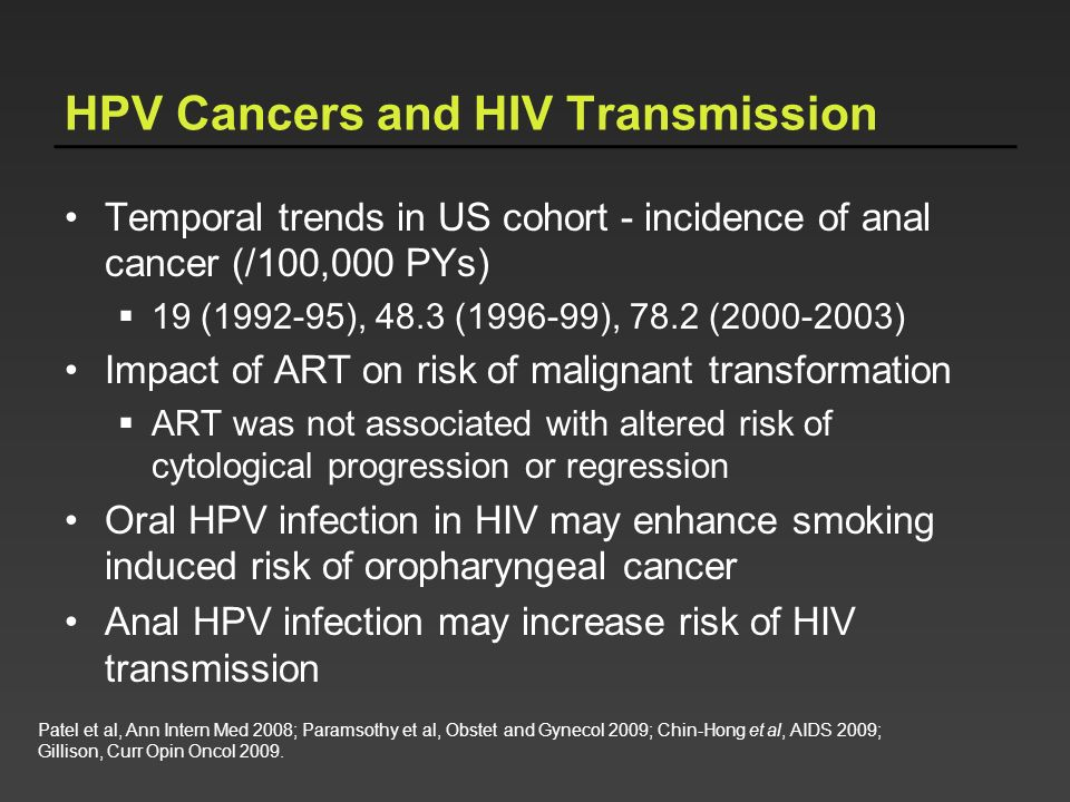 HPV Cancers and HIV Transmission